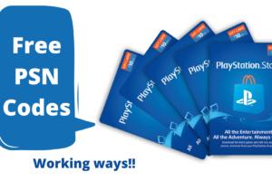 Free PSN Codes