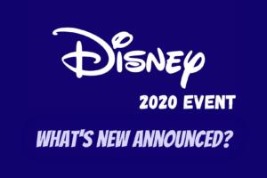 Disney 2020 event