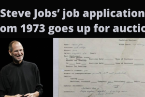 Steve Jobs' job application from 1973 goes up for auction