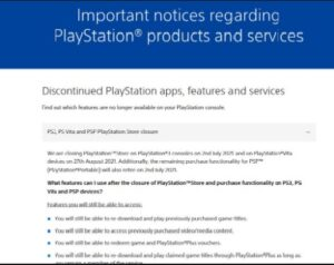 Sony is going to close online stores