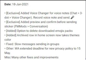 YOWhatsApp Apk features