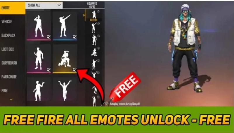 Free Emotes in Garena Free Fire