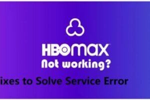 HBO Max Service Code Error