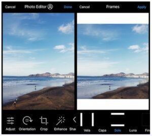 Add white frames to Instagram photos